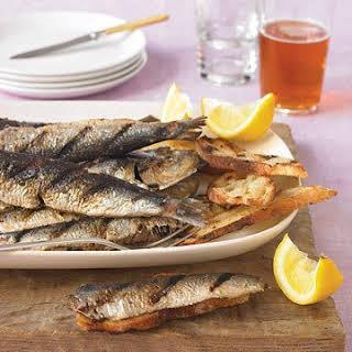 Grilled Fresh Sardines.