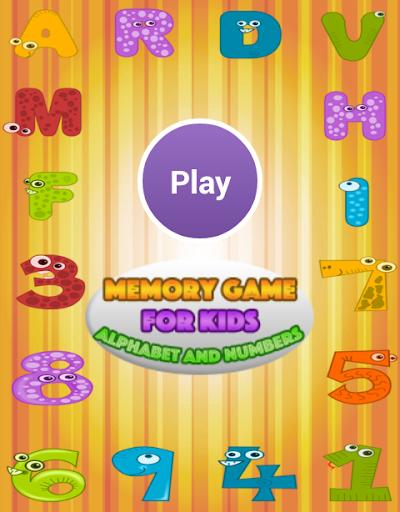 Memory Kids Alphabet Numbers