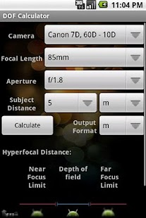 DOF Calculator - screenshot thumbnail