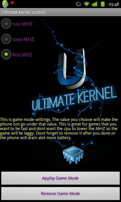 Ultimate Kernel Control - screenshot