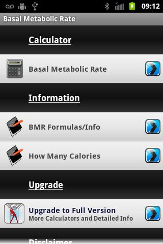 Basal Metabolic Rate- screenshot