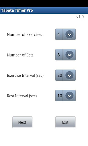 Tabata Stopwatch Pro - Interval Timer For Tabata, HIIT And Circuit ...
