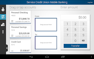 Screenshot of Service CU Mobile Banking