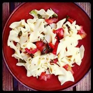 Tomato Basil Tagliatelle.