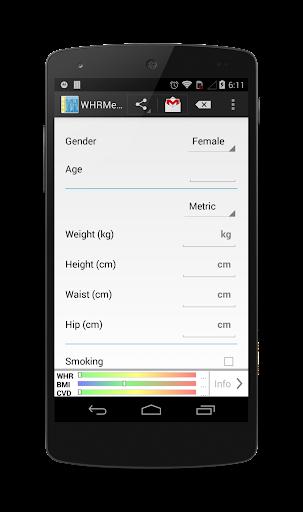 WHRMeter BMI WHR CVD measure