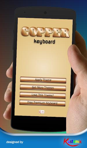 Copper 3d Keyboard
