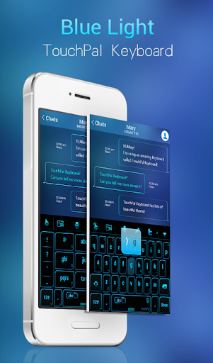 Blue Light Keyboard Theme
