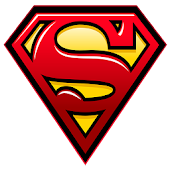 Superman Sticker Widget