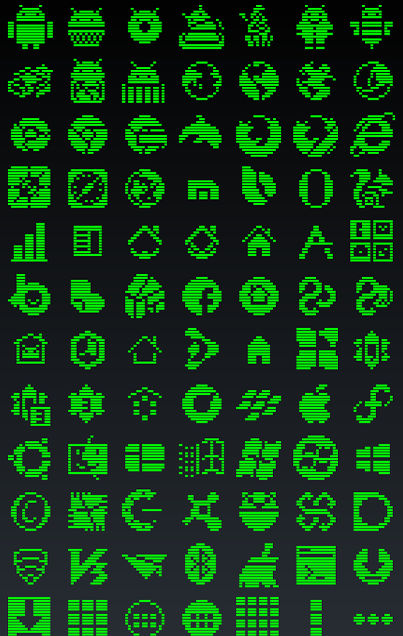 1-BIT GREEN Icon Theme- screenshot