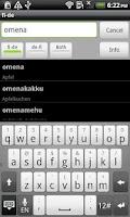 Screenshot of Finnish-German Dictionary