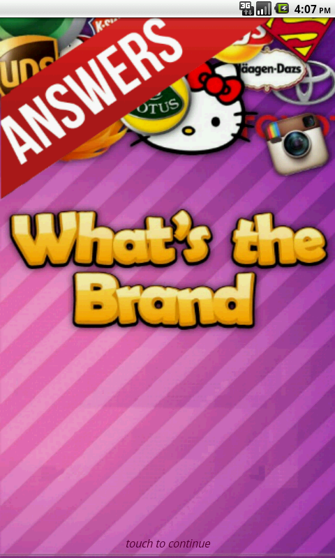 the only Whats the Brand Cheats & Answers Guide for What's the Brand