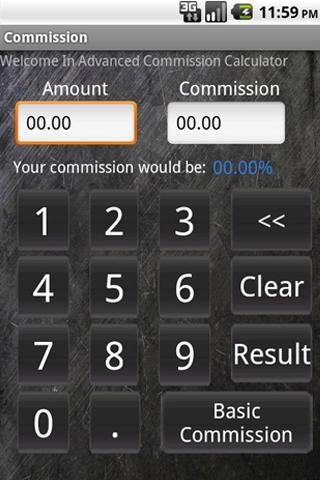 Commission Calculator - screenshot