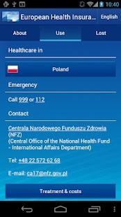 European Health Insurance Card - screenshot thumbnail