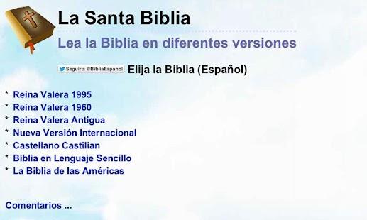 Biblia en Español Multi Opción- screenshot thumbnail