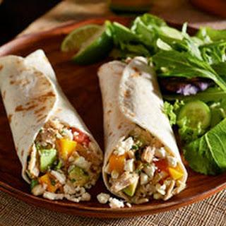 Feta, Chicken & Mango Tacos.