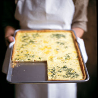 Smoked Salmon and Dill Quiche.