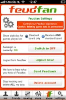 Screenshot of Feudfan - Wordfeud tracker
