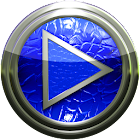 Poweramp skin blue lizard icon