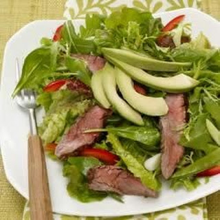 Asian Salad with Beef and Avocado