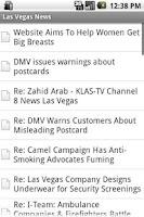 Screenshot of Las Vegas News