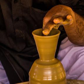 On the creative Wheel by Avanish Dureha - Artistic Objects Other Objects ( dureha@gmail.com, artisan, potter, pottery, handicrafts, avanish dureha, rural )