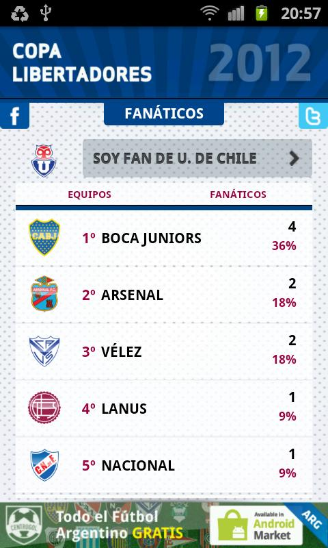 Copa Libertadores 2012 - screenshot