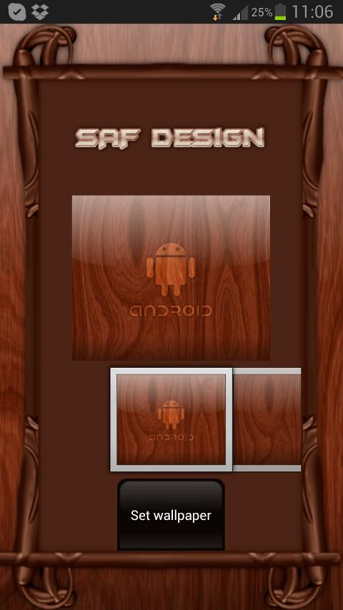 Mahogamy Wood GO Launcher EX- screenshot