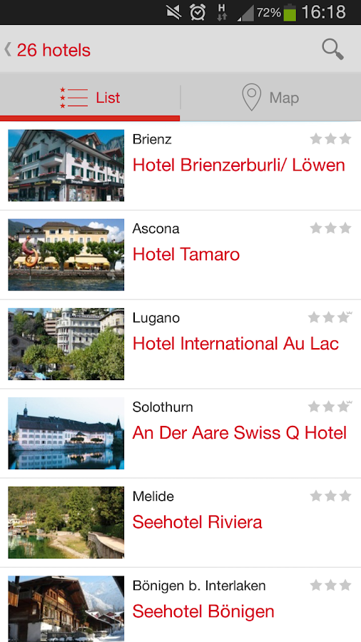 Best Swiss Hotels - screenshot