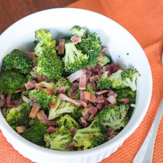 Roasted Broccoli with Bacon.