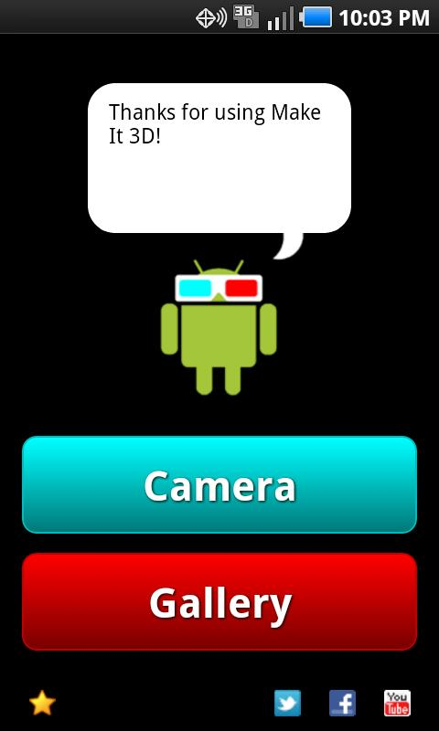 3D Camera - Make It 3D Free - screenshot