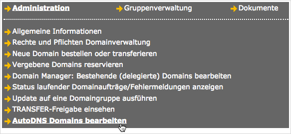 AutoDNS Domains bearbeiten (edit AutoDNS domains)