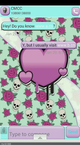 SkullValentine GO SMS THEME
