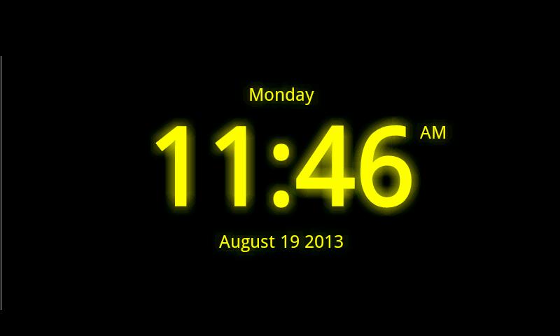 Digital Clock Live Wallpaper 7