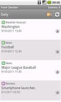 Screenshot of RSS reader - Feed Checker
