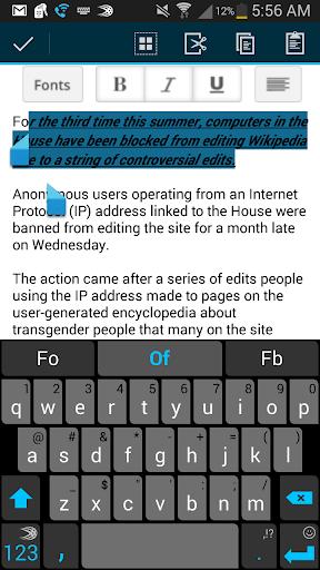 【免費生產應用App】Pocket Word Processor-APP點子