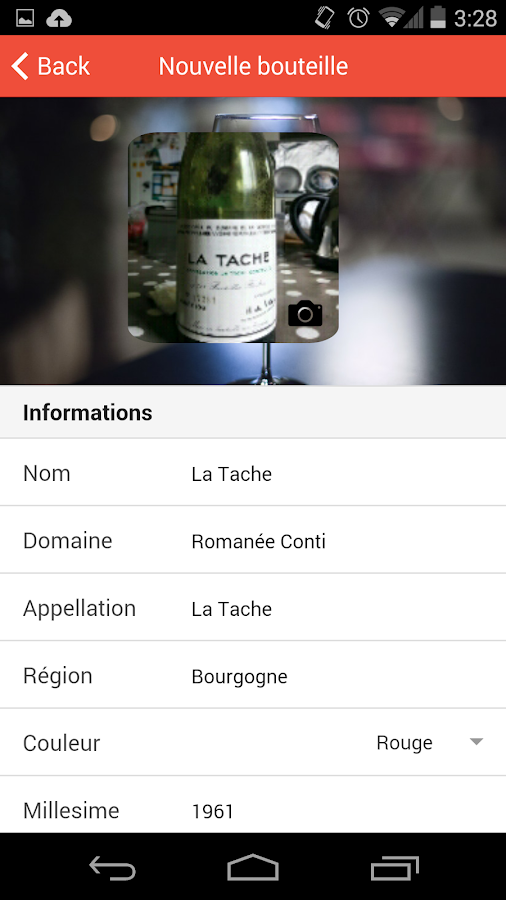 Mywine gestion de cave vin android apps on google play - Application gestion cave a vin ...