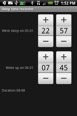 Sleep Log Automatic - screenshot