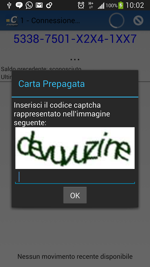 Carta Prepagata - screenshot