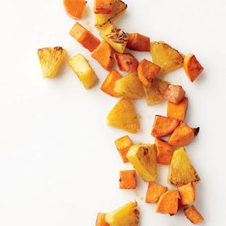 Roasted Sweet Potatoes and Pineapple