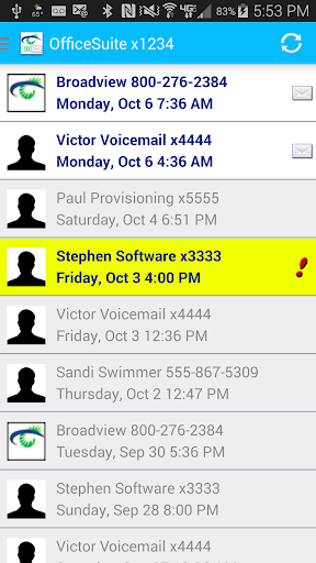 OfficeSuite Voicemail