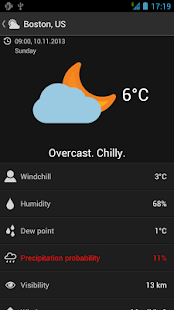 UNIWeather - Weather in pocket - screenshot thumbnail