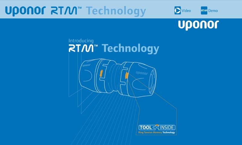 Uponor RTM™ Interactive- screenshot