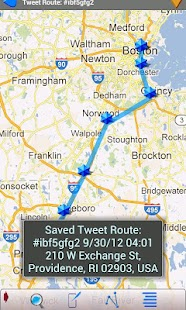 Tweets On A Map (Twitter)- screenshot thumbnail