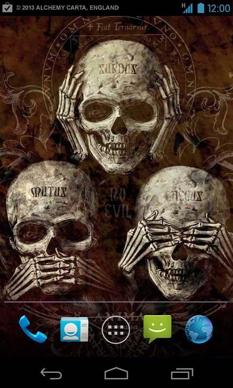 Outdated Alchemy Skulls Live Wallpaper V11