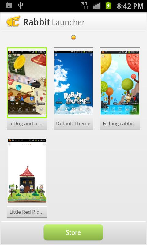 Rabbit Launcher 3D Home Theme - screenshot