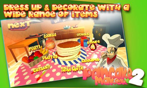 パンケーキ メーカー-三次元の女の子子供 代のゲームの料理