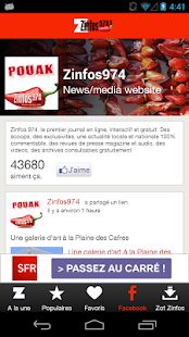 Zinfos974.com- screenshot thumbnail