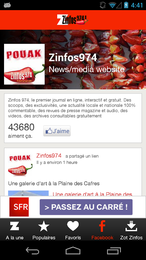 Zinfos974.com- screenshot