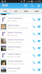ranjeR - SMS & Contact list- screenshot thumbnail