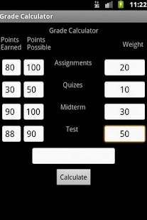 Easy Grade Calculator - screenshot thumbnail